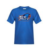 Youth Royal T Shirt-Head Word Mark