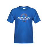 Youth Royal T Shirt-New Paltz Volleyball Stacked