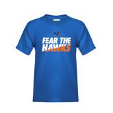 Youth Royal T Shirt-Fear The Hawks