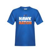 Youth Royal T Shirt-Hawk Nation