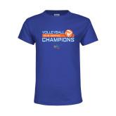 Youth Royal T Shirt-2018 SUNYAC Volleyball Champions
