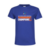 Youth Royal T Shirt-2019 Womens Basketball Conference Champions