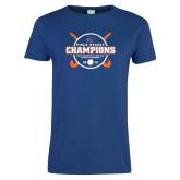 Ladies Royal T Shirt-2018 SUNYAC Field Hockey Champions