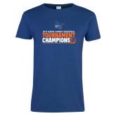 Ladies Royal T Shirt-2019 Womens Basketball Conference Champions