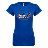 Next Level Ladies SoftStyle Junior Fitted Royal Tee-Head Word Mark