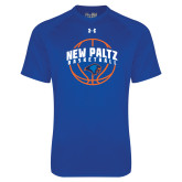Under Armour Royal Tech Tee-New Paltz Basketball Arched w/ Ball