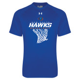 Under Armour Royal Tech Tee-Hawks Basketball w/ Hanging Net