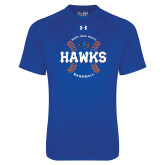 Under Armour Royal Tech Tee-Hawks Baseball w/ Seams