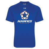 Under Armour Royal Tech Tee-Hawks Soccer w/ Geometric Ball