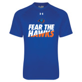 Under Armour Royal Tech Tee-Fear The Hawks