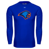 Under Armour Royal Long Sleeve Tech Tee-Hawk Head
