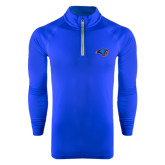 Under Armour Royal Tech 1/4 Zip Performance Shirt-Hawk Head