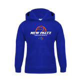 Youth Royal Fleece Hoodie-New Paltz Volleyball Stacked