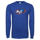 Royal Long Sleeve T Shirt-NP Hawk Head