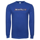 Royal Long Sleeve T Shirt-New Platz Wordmark