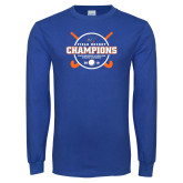 Royal Long Sleeve T Shirt-2018 SUNYAC Field Hockey Champions