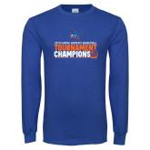 Royal Long Sleeve T Shirt-2019 Womens Basketball Conference Champions