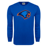 Royal Long Sleeve T Shirt-Hawk Head