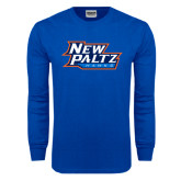 Royal Long Sleeve T Shirt-New Paltz Hawks
