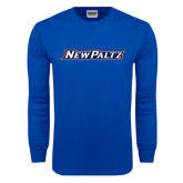 Royal Long Sleeve T Shirt-New Paltz Word Mark