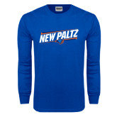 Royal Long Sleeve T Shirt-New Paltz Slanted w/ Logo