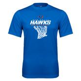 Performance Royal Tee-Hawks Basketball w/ Hanging Net