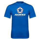 Performance Royal Tee-Hawks Soccer w/ Geometric Ball