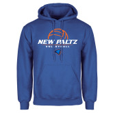 Royal Fleece Hoodie-New Paltz Volleyball Stacked