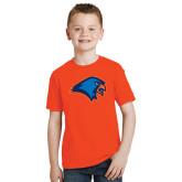 Youth Orange T Shirt-Hawk Head