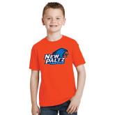 Youth Orange T Shirt-Head Word Mark