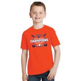 Youth Orange T Shirt-2018 SUNYAC Field Hockey Champions