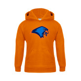 Youth Orange Fleece Hoodie-Hawk Head