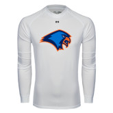 Under Armour White Long Sleeve Tech Tee-Hawk Head
