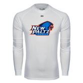Under Armour White Long Sleeve Tech Tee-Head Word Mark