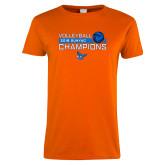 Ladies Orange T Shirt-2018 SUNYAC Volleyball Champions