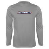 Performance Steel Longsleeve Shirt-New Platz Wordmark