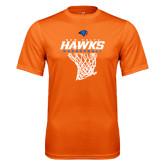 Performance Orange Tee-Hawks Basketball w/ Hanging Net