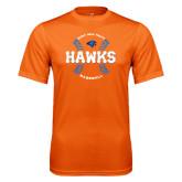 Performance Orange Tee-Hawks Baseball w/ Seams