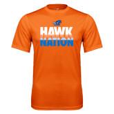 Performance Orange Tee-Hawk Nation