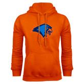 Orange Fleece Hoodie-Hawk Head