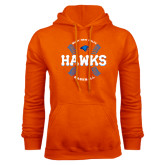 Orange Fleece Hoodie-Hawks Baseball w/ Seams