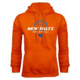 Orange Fleece Hoodie-New Paltz Volleyball Stacked
