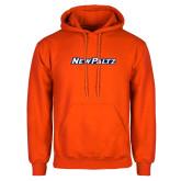 Orange Fleece Hoodie-New Platz Wordmark