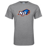 Grey T Shirt-NP Hawk Head