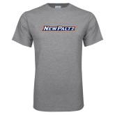 Grey T Shirt-New Platz Wordmark