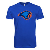 Next Level SoftStyle Royal T Shirt-Hawk Head
