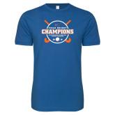Next Level SoftStyle Royal T Shirt-2018 SUNYAC Field Hockey Champions
