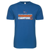 Next Level SoftStyle Royal T Shirt-2019 Womens Basketball Conference Champions