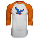 White/Orange Raglan Baseball T Shirt-Hawk