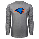 Grey Long Sleeve T Shirt-Hawk Head